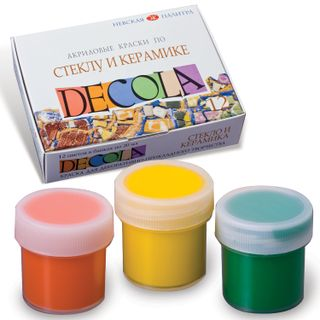 Acrylic paint for glass and ceramics