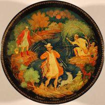 Kholuy art varnish miniature Fishermen