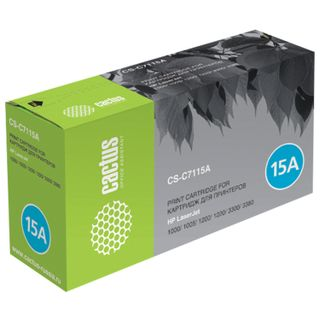 Laser cartridge CACTUS (CS-C7115А) for HP LaserJet 1000/1200/3300/3380, resource 2500 pages.