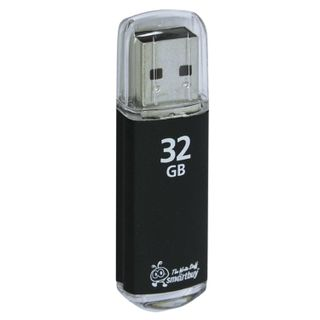 SMARTBUY / Flash Drive 32 GB, V-Cut, USB 2.0, Metal Case, Black