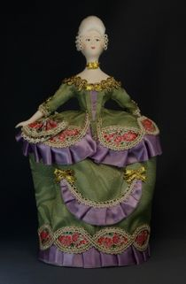 Doll gift porcelain. The costume of court ladies. Ser.18th century European fashion