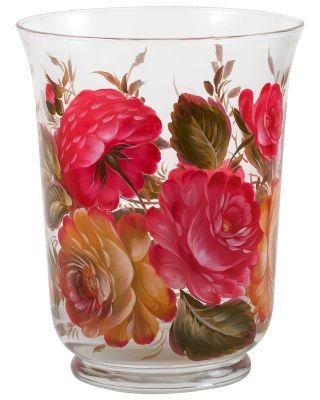 Zhostovo / Medium glass vase, author Yurasov I.