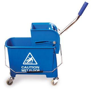 BRABIX / Cleaning trolley-bucket 20 l, mechanical spinning, blue