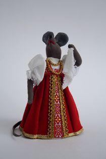 Souvenir doll - Mouse dancing with a handkerchief