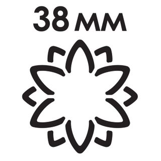Hole punch figural 3D Flower diameter of cut figures of 38 mm, TREASURE ISLAND