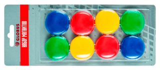 A set of colored magnets 40 mm 8 pieces