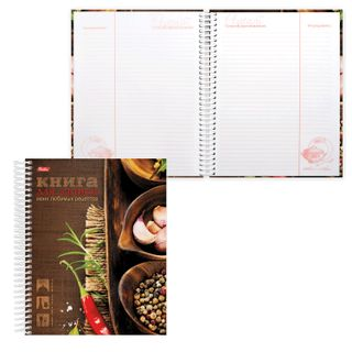 Book for culinary recipes, A5, 80 sheets, HATBER, 7BK, spiral, 5 dividers,