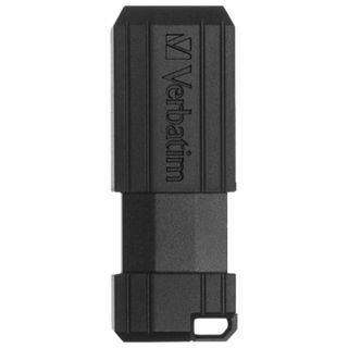 VERBATIM / 16 GB PinStripe USB 2.0 Flash Drive, Black