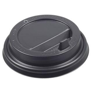 FORMATION / Disposable lids for glass 250 ml (d-80), KIT 100 pcs., Spout valve, black