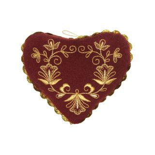 """Pin cushion """"Golden heart"""" with embroidery"""