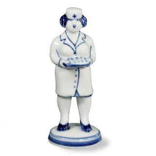Sculpture Nurse grade 2, Gzhel Porcelain factory