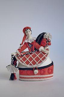 Souvenir doll box. Rider