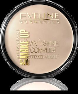 Mattifying mineral powder with silk anti-shine complex pressed powder - transparent 31 the art. Professional make-up, Eveline