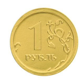 """MONETNY YARD / """"Ruble"""" chocolate coins, 300 g (50 pcs. 6 g each), in a plastic can"""