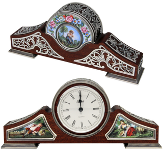 Rostov enamel / Table clock dark brown
