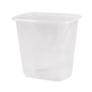 STIROLPLAST / Disposable containers 500 ml, KIT 100 pcs., WITHOUT LIDS, 108x82x103 mm, PP, transparent (lids 604255)