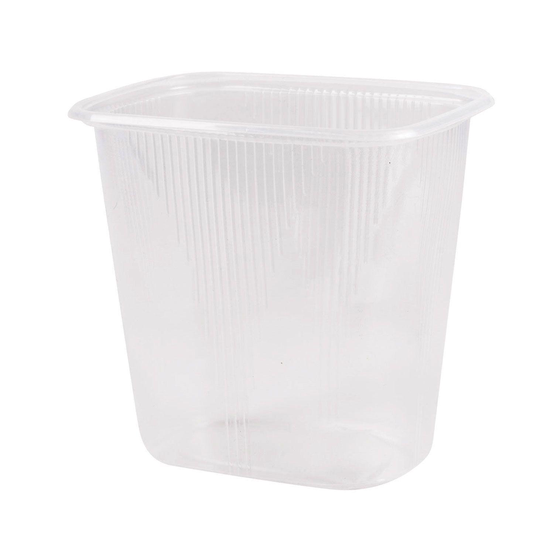 STIROLPLAST / Disposable containers 500 ml, KIT 100 pcs., WITHOUT LIDS, 108x82x103 mm, PP, transparent (lids 604255)