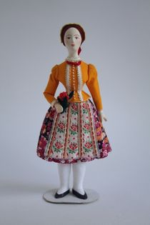Doll gift. Women's costume of the 20th century. Hungary. (South-East).
