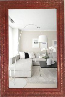 Big mirror in openwork frame marble Tuscany-vintage Kremlin (red), 110 X 80 cm