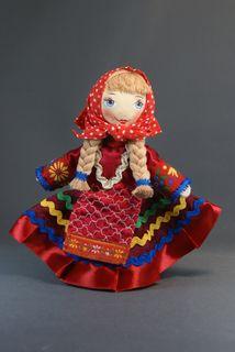 Souvenir doll of Alyonka. Russian folk costume