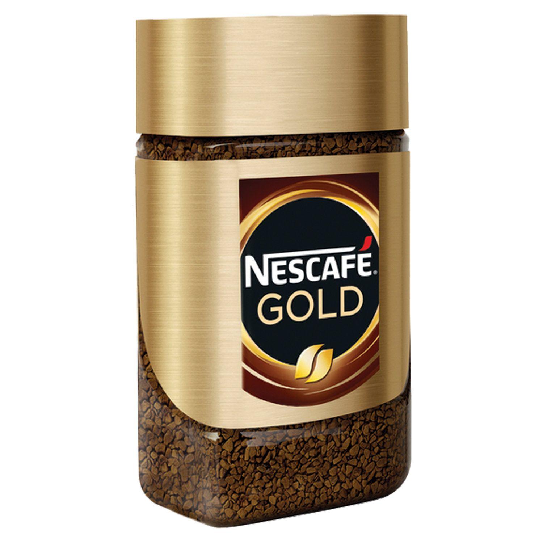 """NESCAFE / Ground coffee in instant """"Gold"""" freeze-dried, glass jar 47.5 g"""