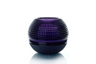 "Crystal vase for flowers ""Pauzhna"" large purple"