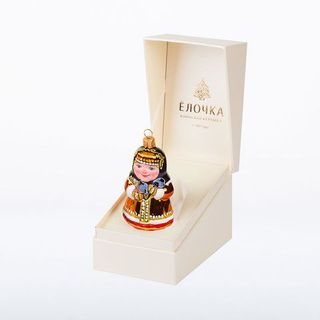 """Christmas tree toy """"Winter"""" in a gift box"""
