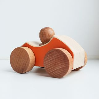 Sports car - developing children's transport wooden toy