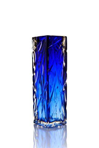 """Crystal vase """"Consul"""" medium blue"""