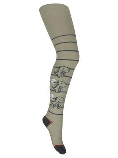 """Tights with a pattern """"Dino"""" mocha"""