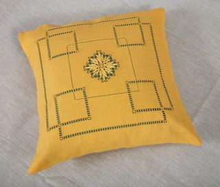 PILLOWCASE-DUMA FROM FLAX WITH EMBROIDERY EMBROIDERY