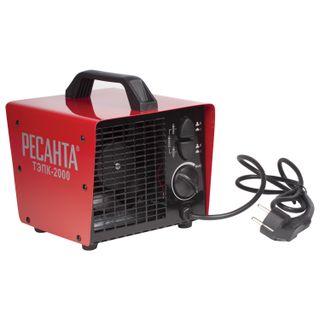 Heat cannon electric RESANTA TEPC-2000, 2000 W, 220 B, square, red