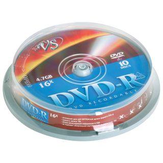 VS / Discs DVD-R 4,7 Gb Cake Box, KIT 10 pcs.