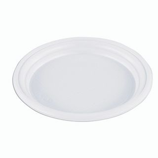 "STIROLPLAST / Disposable flat plates, SET 100 pieces, plastic, d = 165 mm, ""ECONOM"", white, polystyrene (PS), cold / hot"