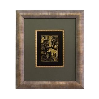 """Panels hand embroidery """"Forest giant"""" green with gold embroidery"""