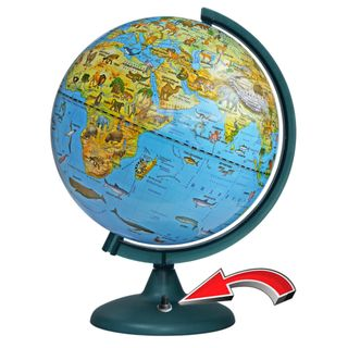Zoogeographical globe with a diameter of 250 mm with backlight battery powered (battery NOT included!