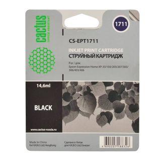 Inkjet cartridge CACTUS (CS-EPT1711) for EPSON Expression Home XP-33/103/203/207/303, black