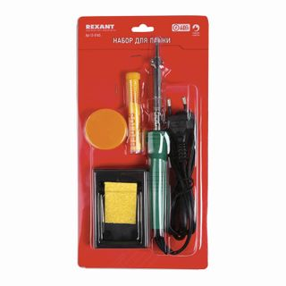 Set for rations No.11 (solder 30 W, stand, sponge for the removal of solder, canifol, solder), REXANT