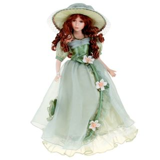 "Porcelain doll ""Lady Love in an olive organza"""