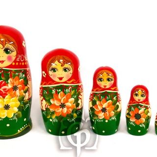 Rossijanochka - booklet doll, 6 puppets - booklet number 18