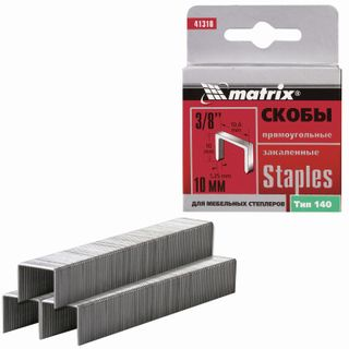 Staples for furniture stapler, type 140, 10 mm, MATRIX