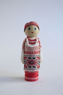 Doll gift. Women's costume of the 19th century. Russia