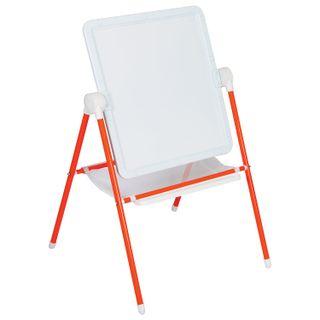 Board easel double-sided chalk and magnetic marker (52х46 cm) orange/white, DEMI