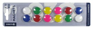 A set of colored magnets 20 mm 12 pieces