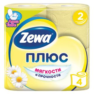 ZEWA / Toilet paper Plus, 2-layer (4x23 m), chamomile aroma, spike 4 pcs.