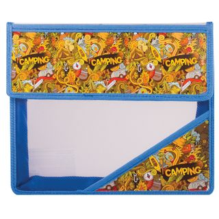Folder for notebooks A5, plastic, Velcro, with a picture on the area,