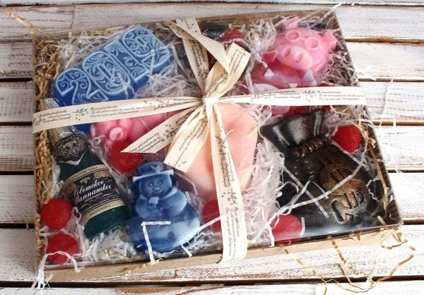 New Year's eve large set of handmade soap Milotto