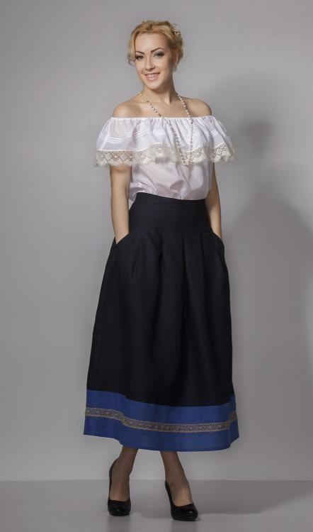 """Skirt women's """"Giselle"""" at the yoke"""
