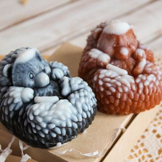 Handmade soap Hedgehog mix of colors and aromas