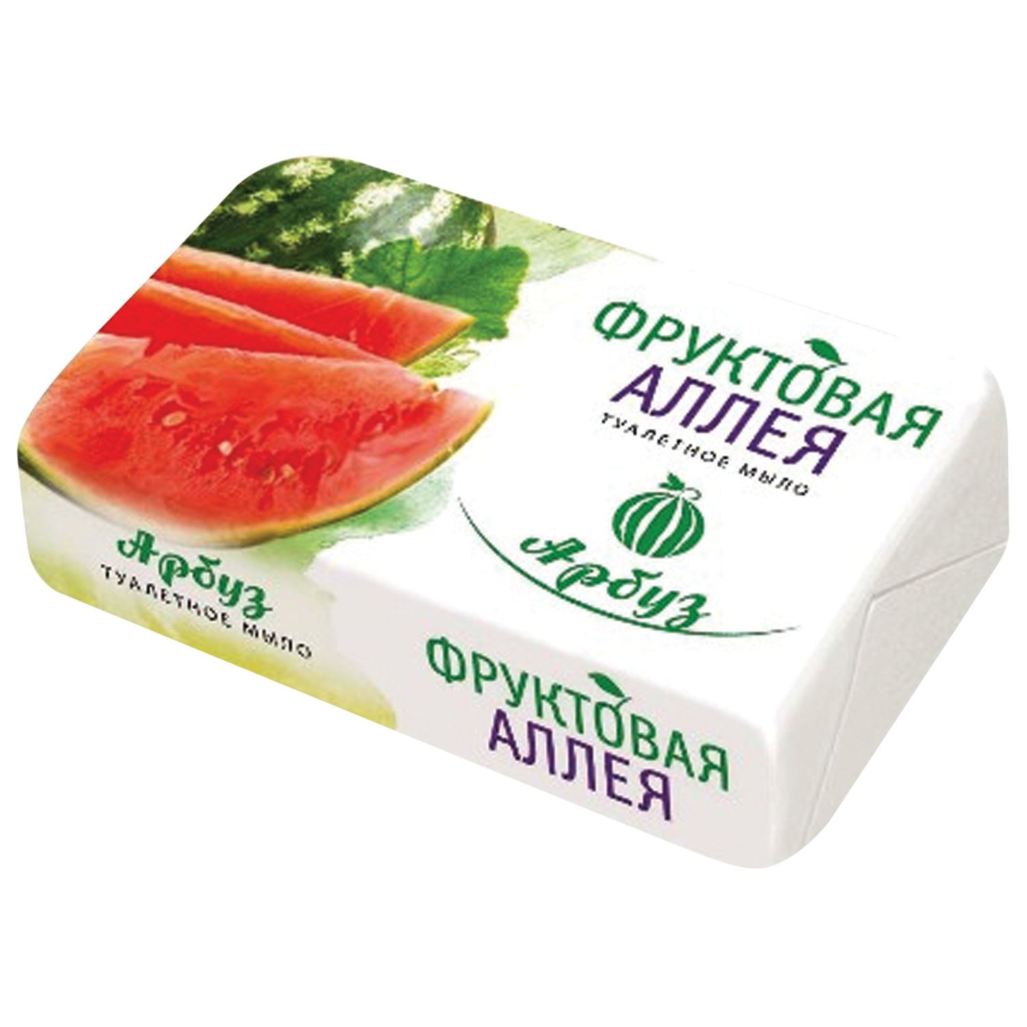 "Toilet soap 90 g, ""Fruit Alley"" (Nafis Cosmetics), ""Watermelon"""